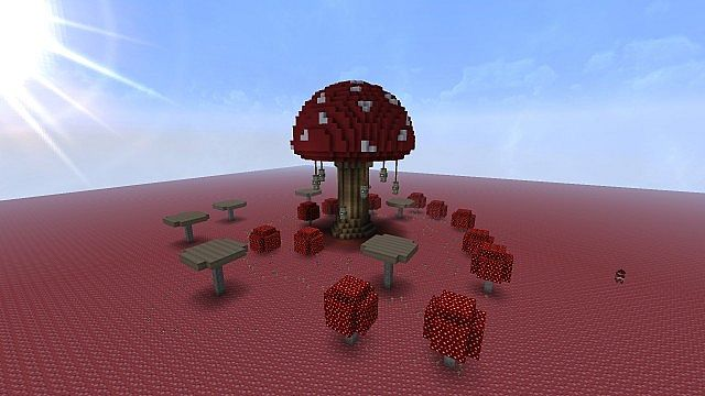 Giant Mushroom House Skyrim Inspired Minecraft Project