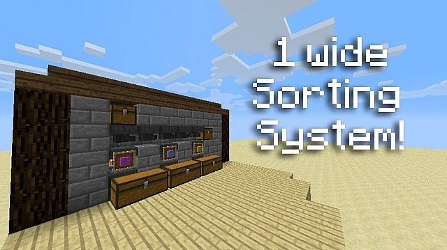Super Small Silent Sorting System Minecraft Project