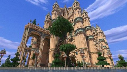 cathedral minecraft kings map interior roof file screenshots planetminecraft