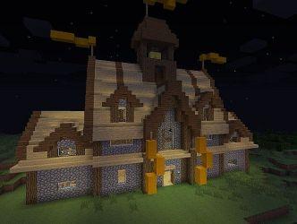 hall village minecraft medieval town westin