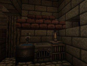 medieval outpost kitchen minecraft