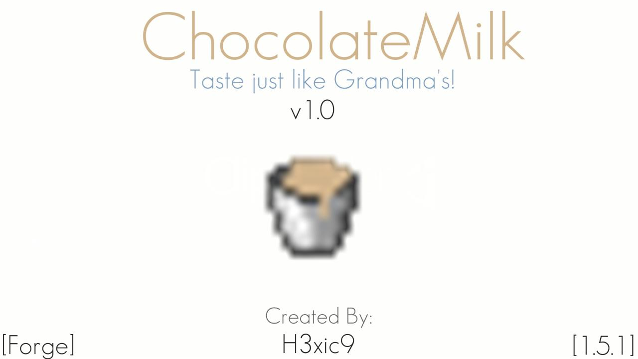 [1.4.5][Forge]-ChocolateMilk-Drink Chocolate Milk