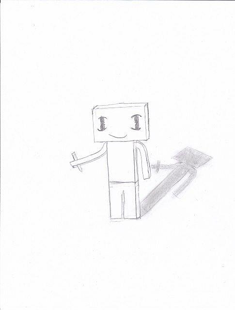 My Steve With a Pencil Minecraft Blog