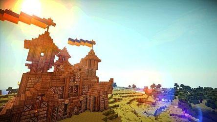 hall town medieval minecraft imgur 3d