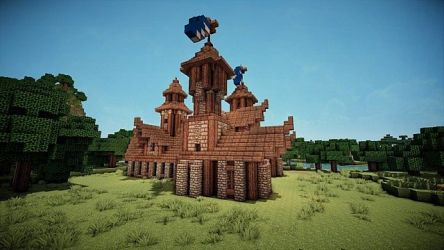 minecraft medieval town hall halls hyrule castle viewer buildings
