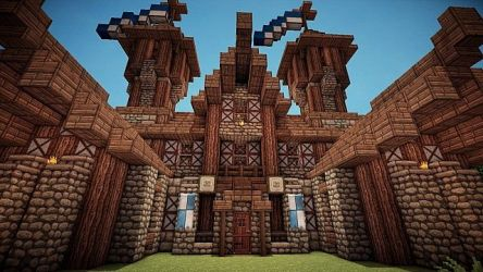 hall town medieval minecraft viewer screenshot