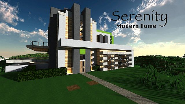 Serenity Modern Home Minecraft Project