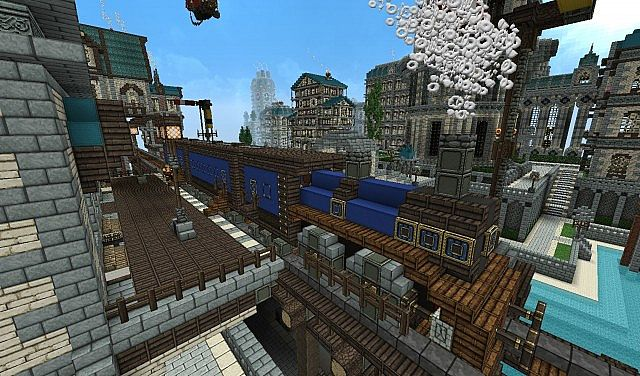 A Small Train Station Somewhere In Forgeheart Minecraft