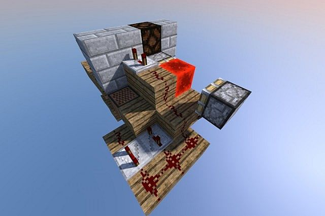 Compact Furnace Alarm for Minecraft 1.5.1/1.5.2 [SCHEMATIC