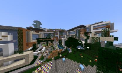 minecraft building megamansion created