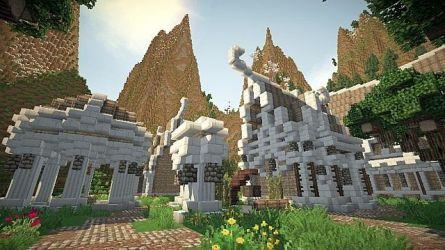 The hidden town of Felenril An elven inspired build Minecraft Map