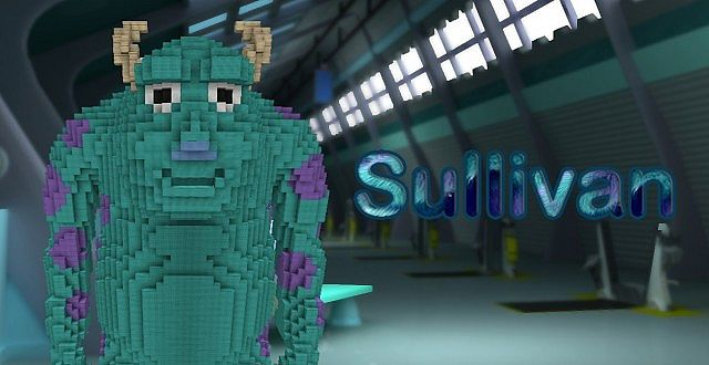 Monster Inc Sully And Mike Giant 3D Statues Minecraft Project