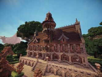 minecraft medieval hall town gothic castle designs blueprints mansion builds planetminecraft fantasy build architecture project inspiration chateau plans cool projects