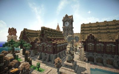 Morkheim A medieval fantasy port Minecraft Map