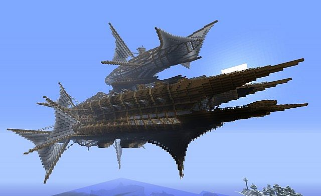 Large Airship For Battle Minecraft Project