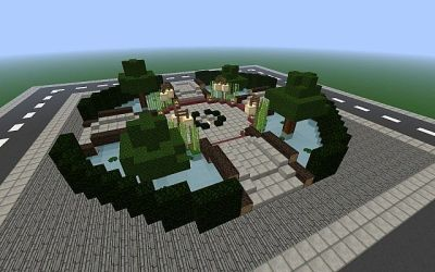 schematic town modern park landscape minecraft square angle project