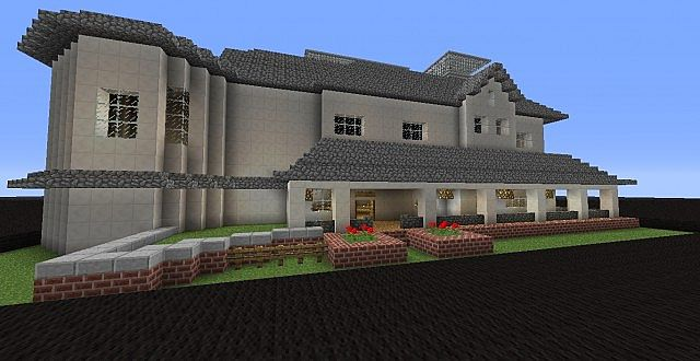 Cobble and Quartz Mansion Minecraft Project