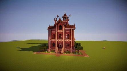 hall town victorian minecraft 3d schemagic