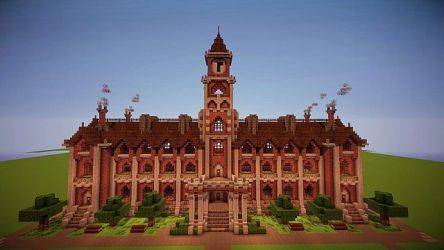 hall town victorian minecraft creation build buildings blueprints building tutorials designs minecraftforum cool things houses schemagic save forums pixld library