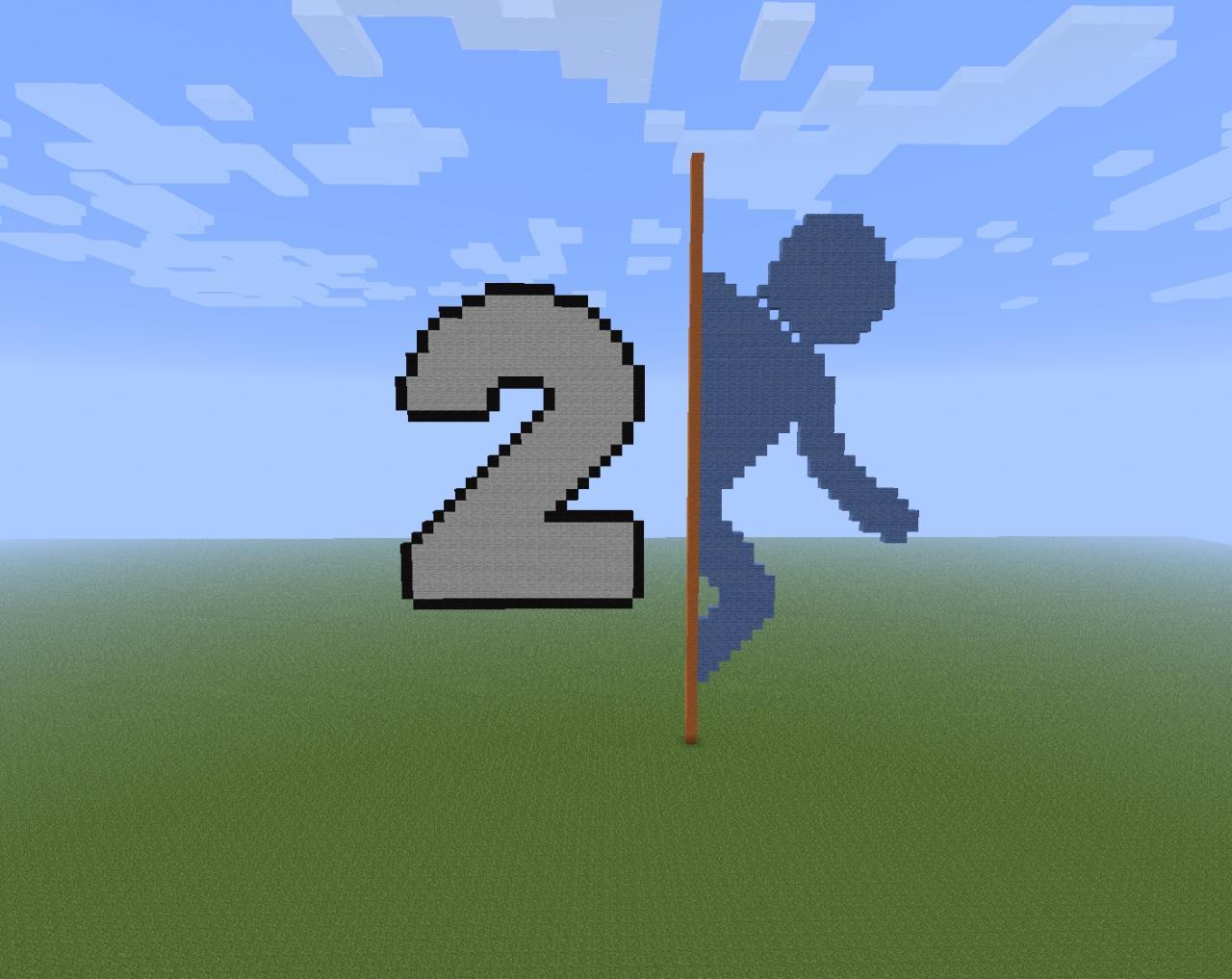 Minecraft Pixel Art Portal