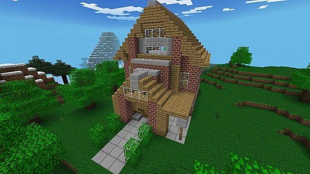 Minecraft PE Brick Cottage Minecraft Project
