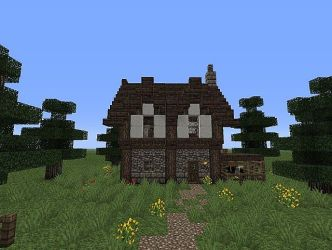 Medieval Minecraft Small House Designs 3