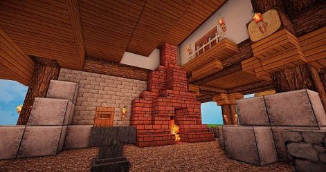 medieval forge blacksmith minecraft project