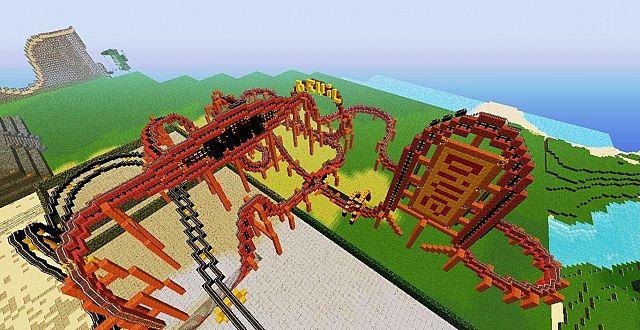 Roller Coaster Dare Devil Dive SERVER 162 Minecraft