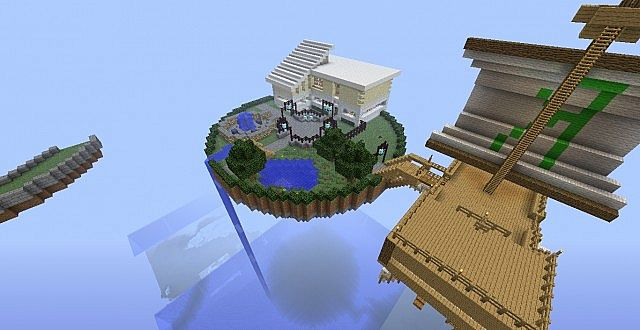 Minecraft Floating Ship
