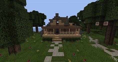 cozy starter cottage schematic minecraft front