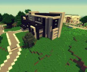 hall modern project minecraft
