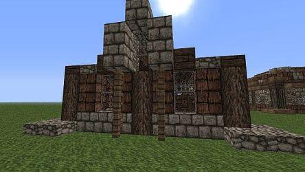 plan floor medieval open building series minecraft rear