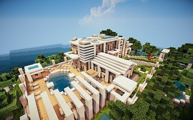 Virage [Modern Island House] Minecraft Project