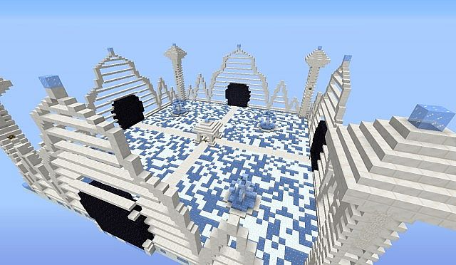 Minecraft Mini Games Lobby Ice Temple Minecraft Project
