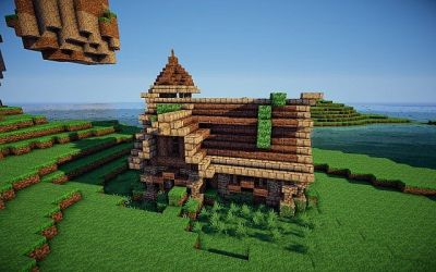 hall town medieval inside minecraft map