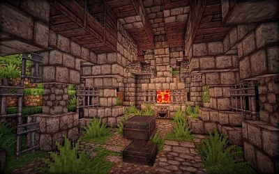 blacksmith medieval forge outside minecraft hallway requested