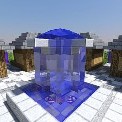 square town fountain spawn minecraft 1000 map