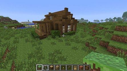spruce cottage modern cozy minecraft