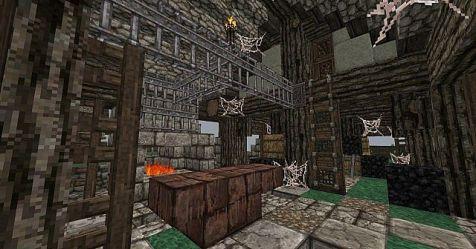 blacksmith medieval forge area minecraft