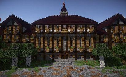 town medieval hall minecraft