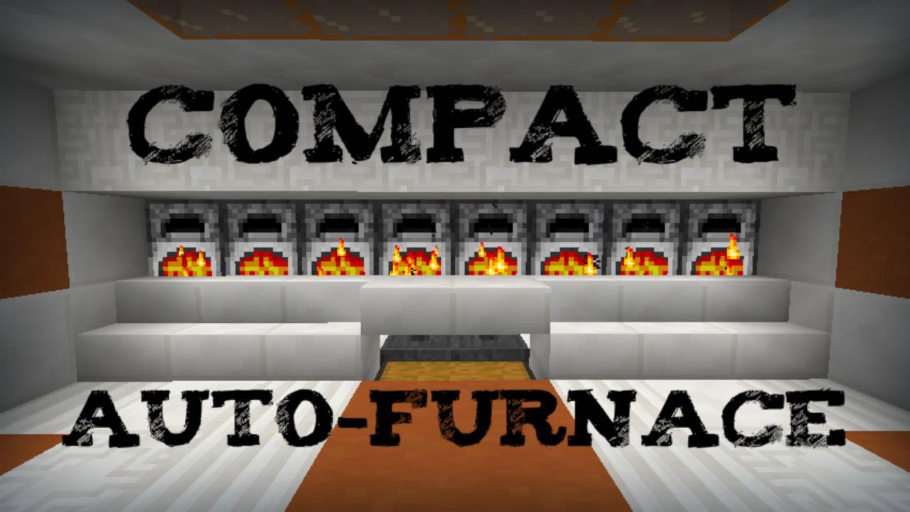 Compact Auto Furnace Minecraft Project