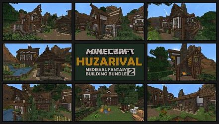 minecraft medieval fantasy pack building buildings tailor houses stonemason armorsmith package project downloads