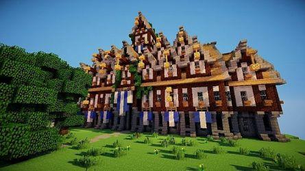 hall town medieval minecraft steampunky schemagic