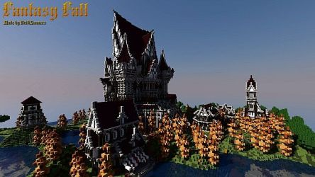 fantasy castle medieval minecraft fall maps project diamonds planetminecraft map