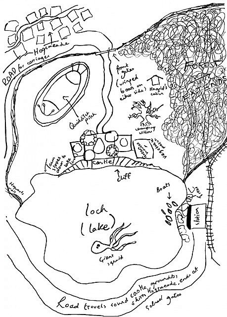 Hogsmeade/Hogwarts Map Minecraft Project