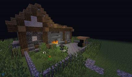 minecraft blacksmith medival butcher buildings