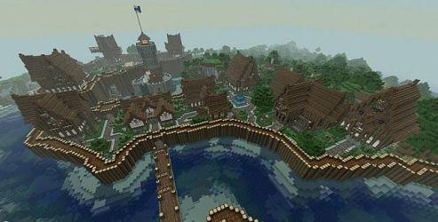 Medieval/Gothic town Minecraft Map