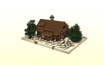 minecraft cozy winter cottage cosy project birch build log diamonds room map planetminecraft