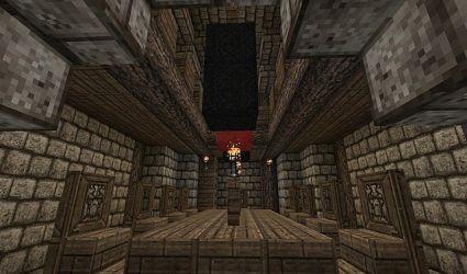 medieval castle hall keep dining minecraft