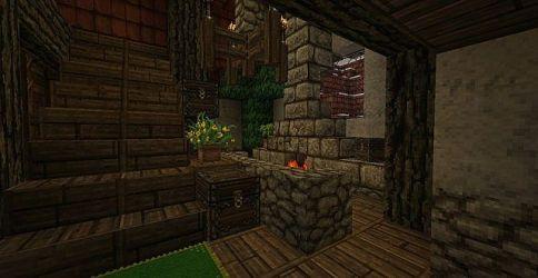 medieval blacksmith interior fantasy minecraft